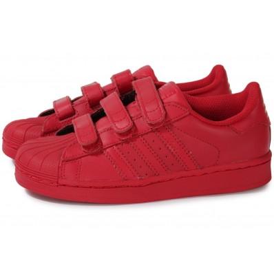 adidas superstar enfant rouge
