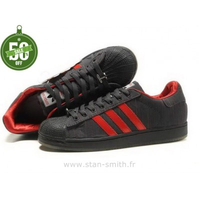 adidas superstar noir et rouge