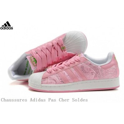 adidas superstar rose fille