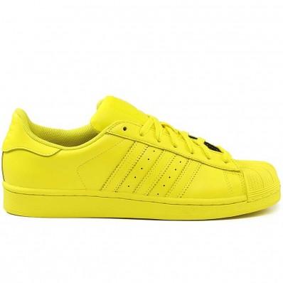 superstar adidas jaune